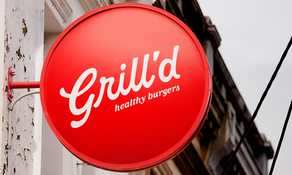 Grill'd signage